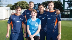 Black Cap Surprise for Young Cricket Fanatic